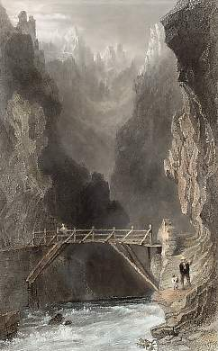 Bridge Over the Guill, Near Mount Dauphin, High Alps
