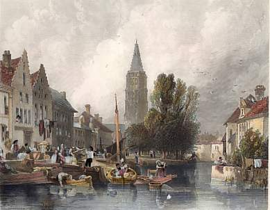 Church of Notre Dame from the Marché Aux Meubles, Bruges