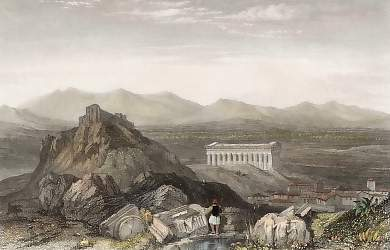The Aeropagus or Mars Hill, with the Temple of Theseus, Athens
