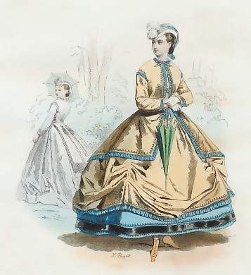Dames De Paris, Empire, tiré Du Petit Courrier Des Dames, 1864