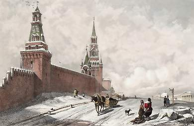 The Holy Gate and Wall of the Kremlin