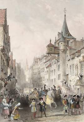 The Canongate, During the Procession of His Majesty George IVth, Edinburgh, Aug. 22nd 1822