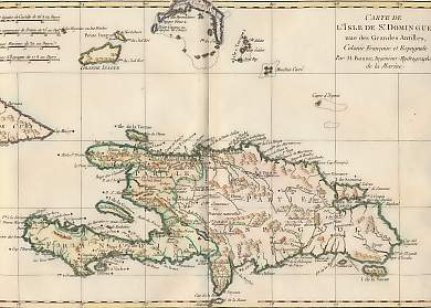 Carte De L´Isle De St Domingue