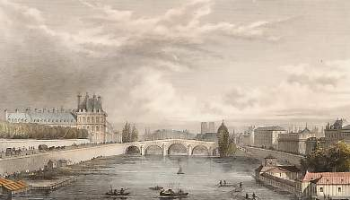 View of the Seine, from the Bridge of Louis XVI