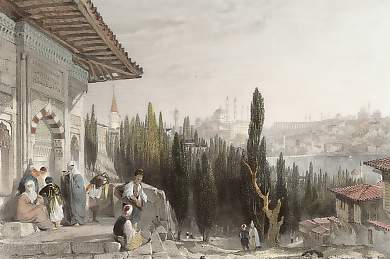 Constantinople and the Petit Champ Des Morts, from the Heights of Pera