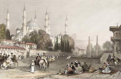 The Atmeidan, or Hippodrome and The Mosque of Achmet, Constantinople