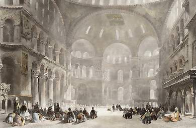 The Mosque of Santa Sophia, Constantinople
