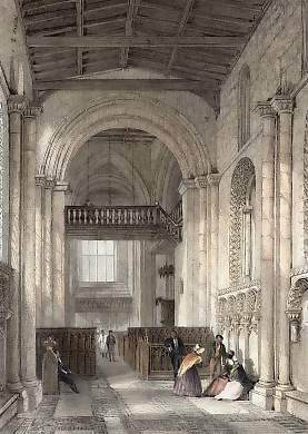 Interior of Stow Church, Lincolnshire