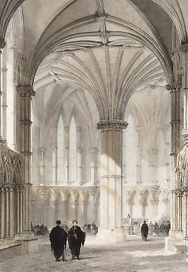 Interior of the Chapter House, Lincoln Cathedral