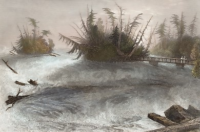 The Rapids Above the Falls of Niagara