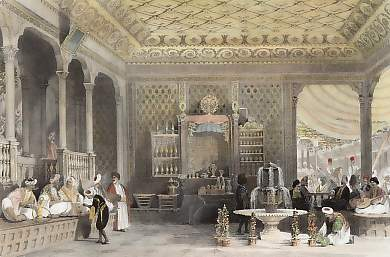 Interior of a Turkish Caffinet, Constantinople