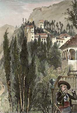 The Generaliffe, from the Walls of the Alhambra, Granada