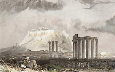 The Temple of Jupiter Olympus at Athens