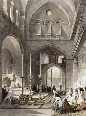 Entrance to the Holy Sepulchre, Jerusalem