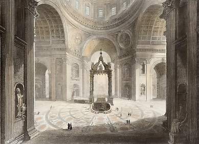 Interior of St. Peter´s, Rome