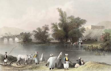Scene & Khan on the Liettani River, Near Djob Djennein