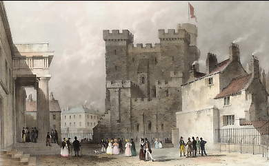 The Castle, from the County Court, Newcastle, Tyne