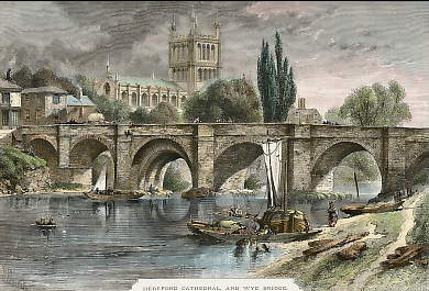 Hereford Cathedral, and Wye Bridge