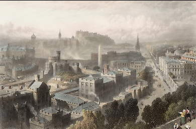 Edinburgh, from the Calton Hill