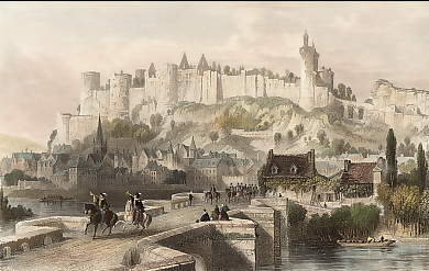 Castle of Chinon, Indre et Loire