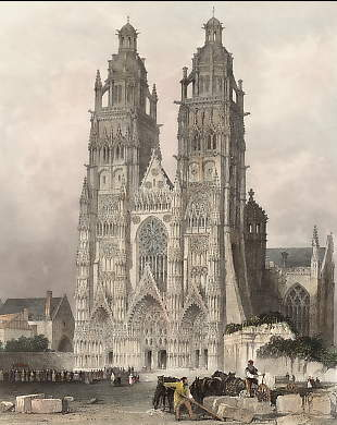 Exterior of the Cathedral of St. Gatien, Tours