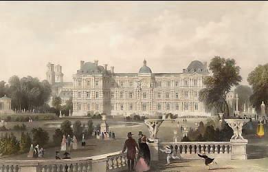 Garden-Front of the Luxembourg, Paris