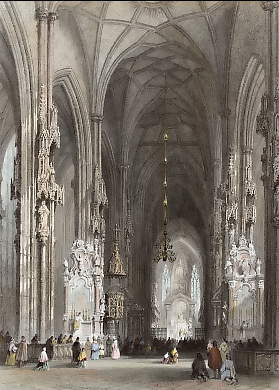 Interior of the Cathedral, Vienna