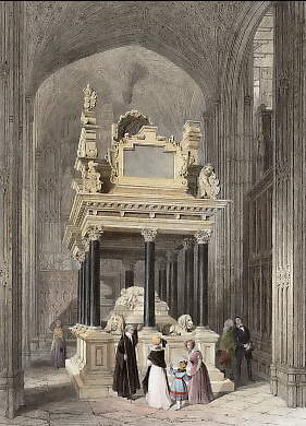 Tomb of Queen Elizabeth, Henry VIIIth Chapel, Westminster Abbey