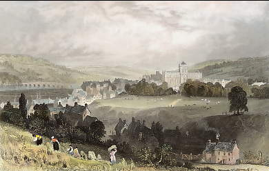 Hexham, from the West, Northumberland