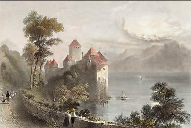 Castle of Chillon, Moonlight