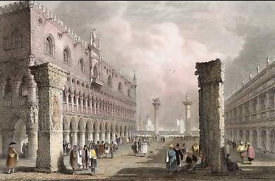 Piazetta, from the Church of St Mark, Venice