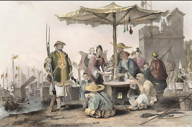 Rice Sellers at Chinese Military Station
