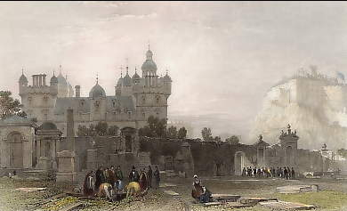 Heriot´s Hospital from the Grey Friars Church Yard, Edinburg