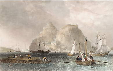 Dumbarton Castle on the Clyde, Dumbartonshire