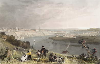 Berwick Upon Tweed, the Island of Lindisfarne in the Distance