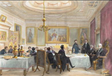 Barber Surgeon´s Hall, the Company Admitting a New Member