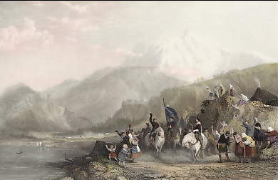 Passage of the Highland Army Along the Side of Loch Eil, 1745, Inverness-shire