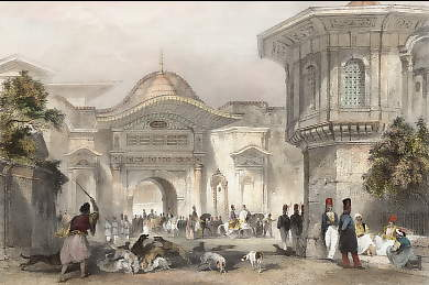 Entrance to the Divan, Constantinople
