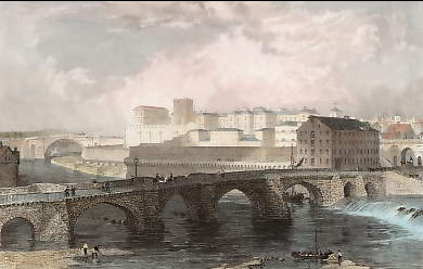 The Old Bridge, Mill, Prison, &c., Chester