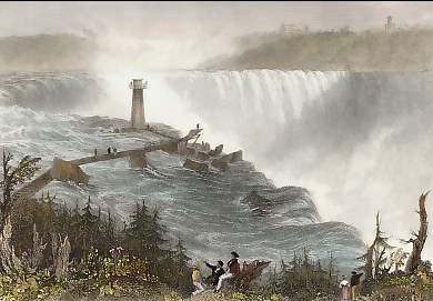 The Horse Shoe Fall, Niagara, with the Tower