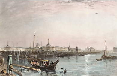 The Isaak Bridge and the Admiralty, St Petersburg