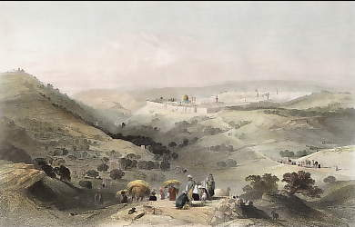 The Mount of Olives and Jerusalem, from the North East