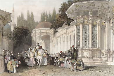 Procession of the Sultan, Street of the Tombs, Eyoub, Constantinople