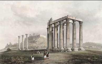 The Temple of Jupiter Olympius, Athens