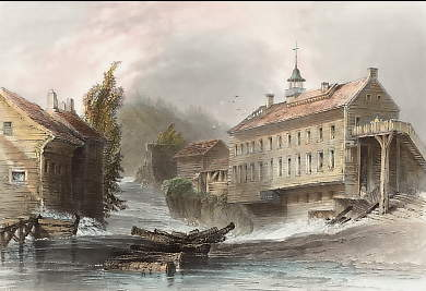 Mills at Sherbrooke, on the River Magog