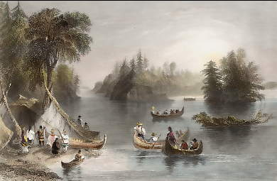 Indian Scene on the St. Lawrence