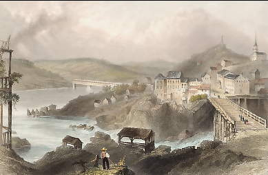 Junction of the St. Francis and  Magog-Rivers, Sherbrooke