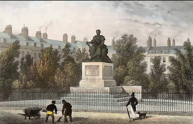 Bloomsbury Square, and Statue of Fox