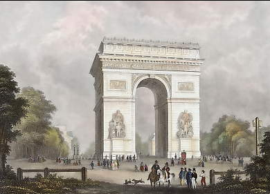 L´Arc De L´Étoile in Paris