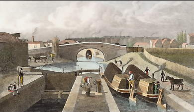 The Double Lock & East Entrance to the Islington Tunnel, Regent´s Canal